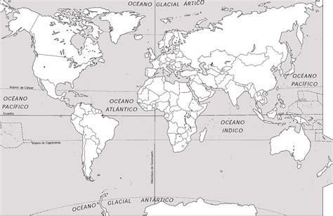 imagenes de un planisferio en blanco y negro mapa planisferio mudo para imprimir imagui