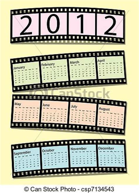 Pelicula Calendario 2012 Vectores De Calendario 2012 Pel 237 Cula Tira 2012