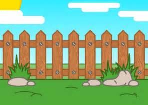 garten comic picket fence vector