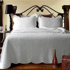 Bed Quilt Covers by Aliexpress Buy 100 Cotton Quilting Quilt White Bed