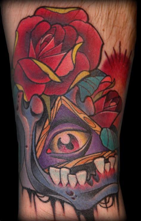 animal jaw bone tattoo jaw bone and rose tattoo by exilink on deviantart