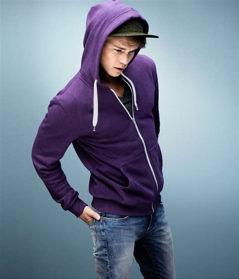 Hoodie H M By Imbong h m hooded jacket in purple for lyst