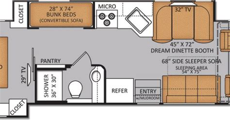 class a diesel pusher with bunk beds rv floor plans with bunk beds new bunkhouse diesel
