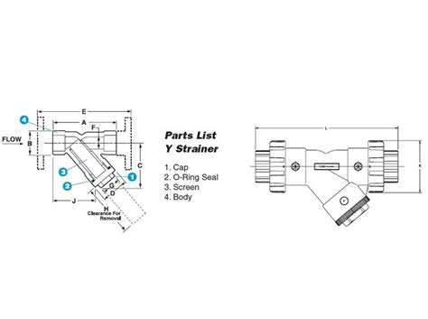 Y Strainer Drawing by Item Ys10100t 1 Quot Pvc Y Strainers W Fpm Seal Threaded