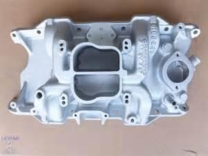 Dodge 318 Intake Manifold Edelbrock Sp2p Aluminum Intake Manifold 273 318 340 360