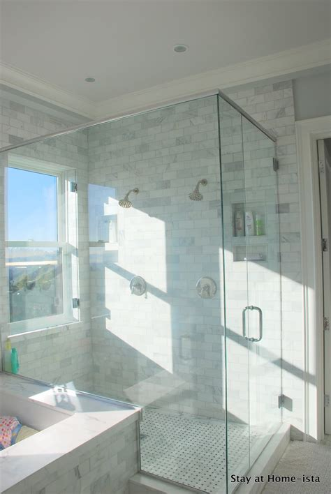 window in bathroom shower remodelaholic marble master bathroom dream come true