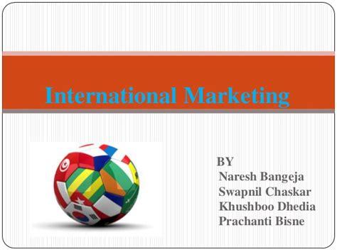 International Marketing Syllabus Mba by International Marketing