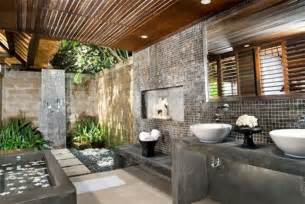 Superb Carrelage Gris Salle De Bain #5: 3-la-meilleure-salle-de-bain-zen-mur-en-briques-gris-salle-de-bain-idees.jpg