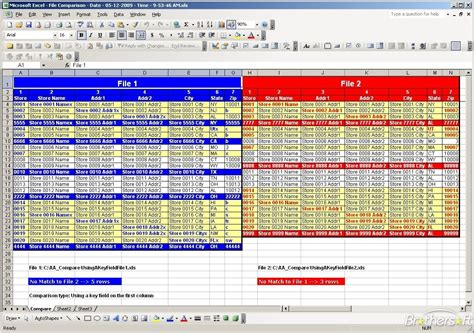 Compare Two Excel Spreadsheets For Differences 2010 by Worksheets Excel 2010 Compare Worksheets Bumdig Free