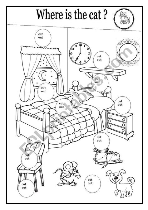 worksheets where is the cat