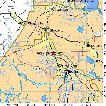 zip code map houma la gray louisiana la population data races housing