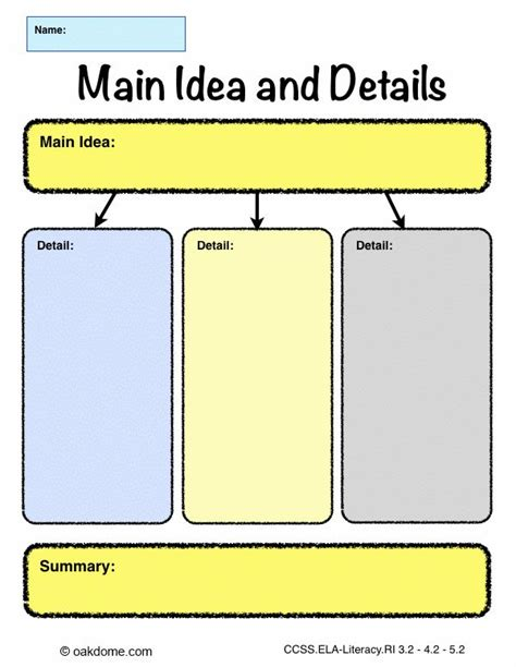 free graphic organizer templates graphic organizer idea and details pages