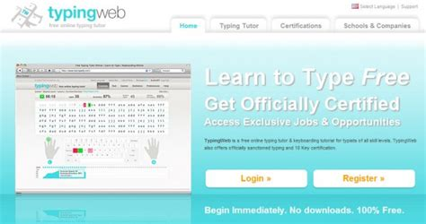 typing tutorial website typingweb typing lesson free typing lesson