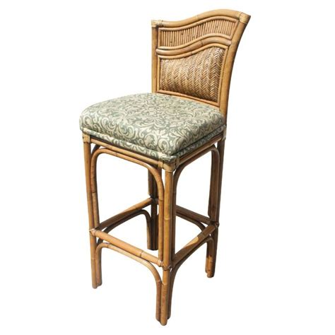 wicker top bar stools rattan granite top bar with two stools for sale at 1stdibs