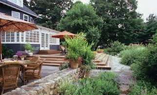 decks on sloped yard york landscaping ideas more
