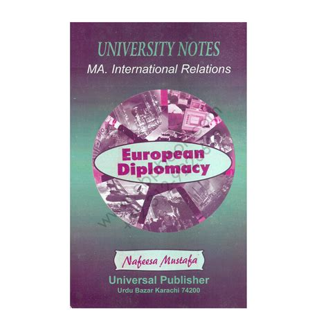 Ma In International Relations And Mba by Ma International Relations European Diplomacy Nafeesa