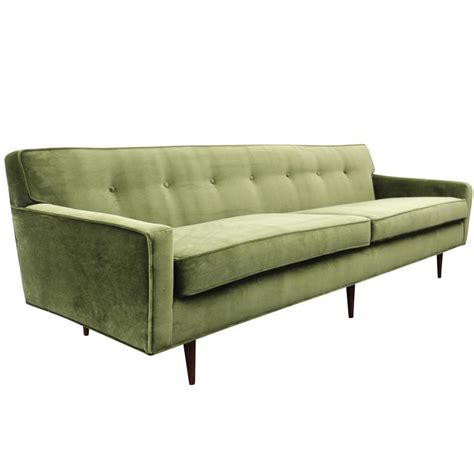 Modern Green Sofa Gorgeous Green Velvet Mid Century Modern Sofa At 1stdibs