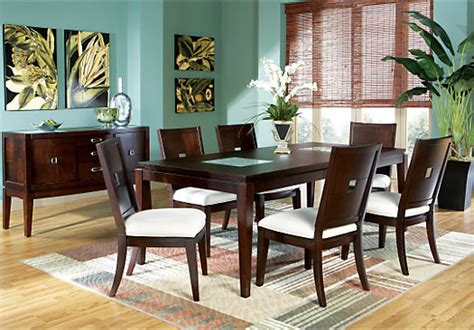 5 dining room sets spiga mocha 5 pc rectangle dining room dining room sets wood