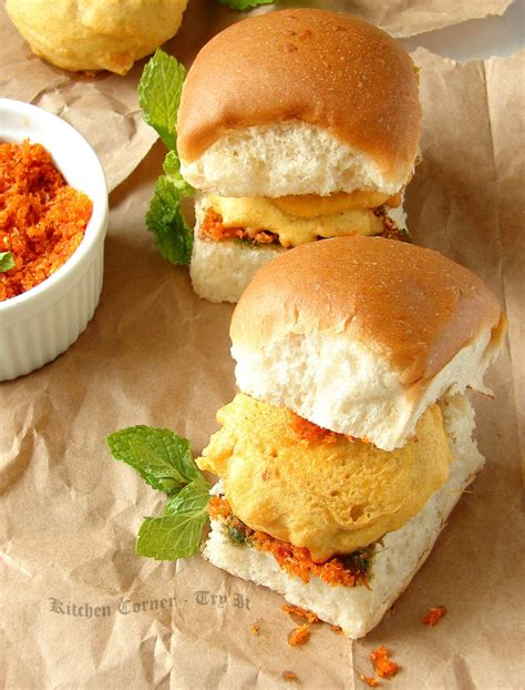 pav vada kitchen corner try it vada pav