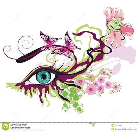 imagenes de ojos con flores ojo pintado ilustraci 243 n del vector imagen de sensualidad
