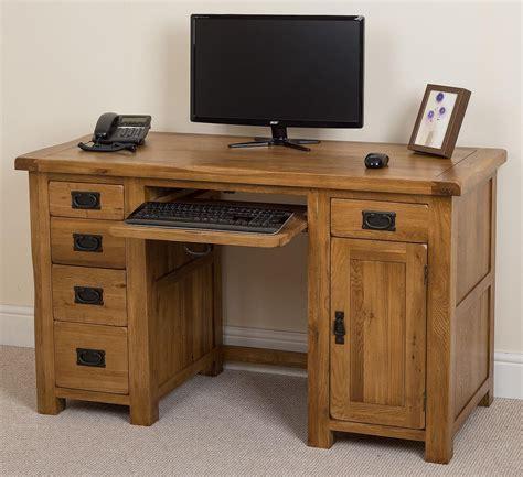 Cotswold Oak Computer Desk I Free Uk Delivery Free Computer Desk