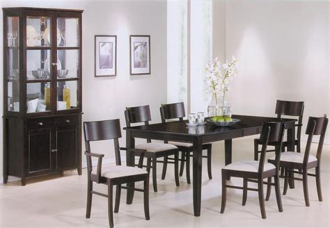 cappuccino dining room furniture springs cappuccino wood dining table set steal a sofa