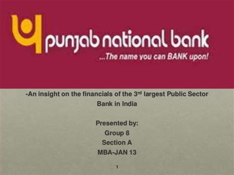 panjab bank punjab national bank ratio analysis and industry analysis