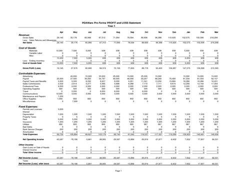 p l sheet template p l statement template and balance sheet template profit