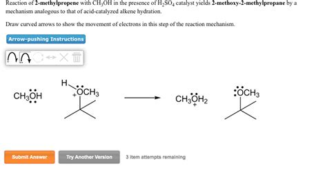 2 methylpropene hydration solved reaction of 2 methylpropene with choh in the prese