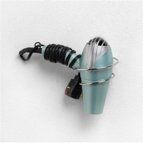 Hair Dryer Holder wall mount hair dryer holder chrome in hair dryer holders