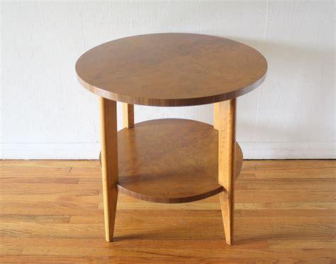 mid century end table mid century modern burl design side end table picked vintage