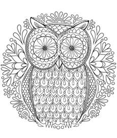 cool coloring pages for adults coloring pages cool owl coloring pages printable