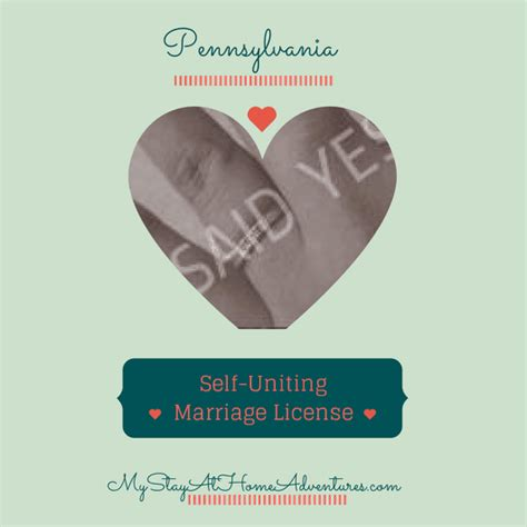 Berks County Marriage Records Self Uniting Marriage License