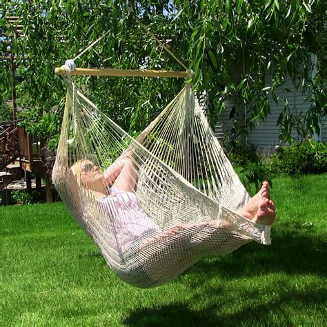 Patio Hammock Chair Sunnydaze Outdoor Mayan Chair Hammock W Wood Spreader Bar Options Ebay