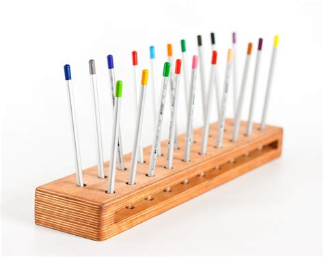 Pencil Desk Organizer Pencil Holder Desk Caddy Wooden Organizer Desk Organizer