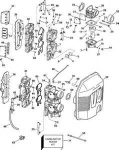 johnson carburetor and intake manifold parts for 2000 90hp
