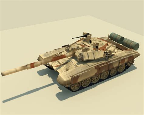 House Exterior Painting - t90 tank 3d model rigged max cgtrader com