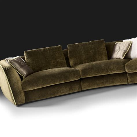 curved sectionals curved designer velvet modular sofa