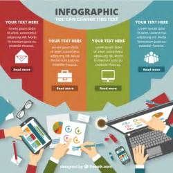 Infographic Template by Colored Business Infographic Template Vector Free
