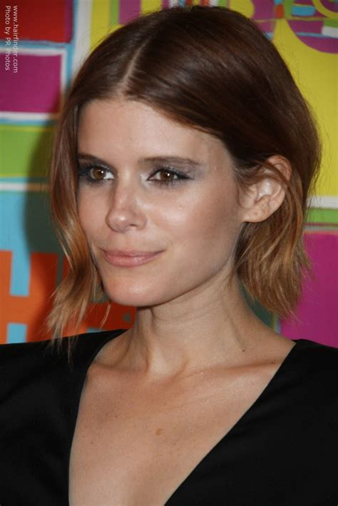 Kate Mara   Hair in an airy bob with a low maintenance color