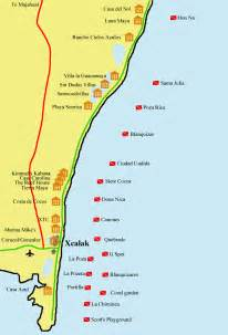 Costa Maya Mexico Map by Mahahual Mexico Map