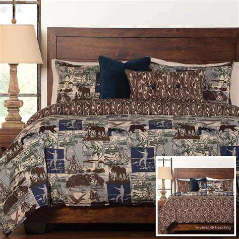 Fishing Bedding Sets Luxury Pine Cone Bedding Cabin Place