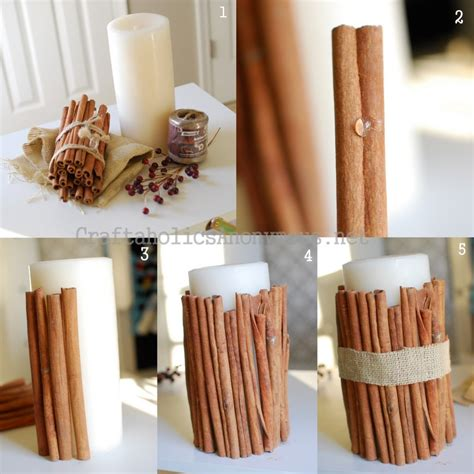 Cinnamon Sticks For Decoration by Candle With Cinnamon Sticks