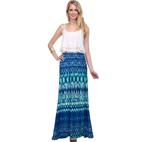 yomsong high waisted floral print maxi skirt s floor