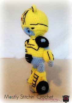 Sweater Topimus De crochet transformer doll plush bumblebee crochet toys wars transformers