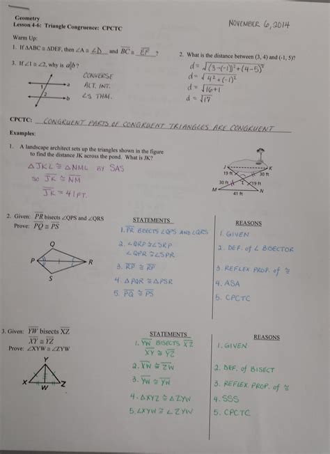 Cpctc Worksheet Answers by Proving Triangles Congruent Worksheet Answer Key Showme