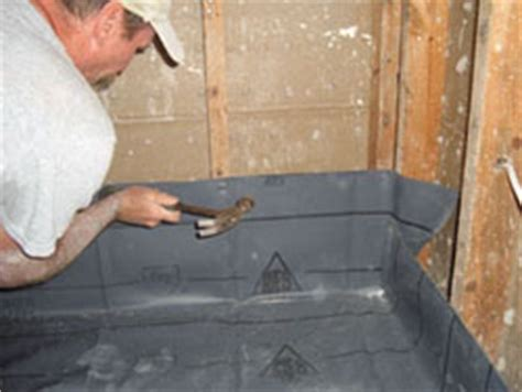 Installing a Shower Pan Liner   Extreme How To