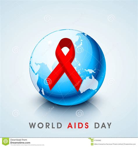 world aids day world aids day concept with awareness ribbon stock photo