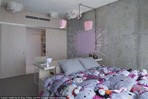 theme hotel la line hotel in la gets hello kitty makeover daily mail online