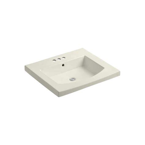 Home Depot Kohler Bathroom Vanity Kohler Persuade Vanity Top Bathroom Sink In Biscuit K 2956